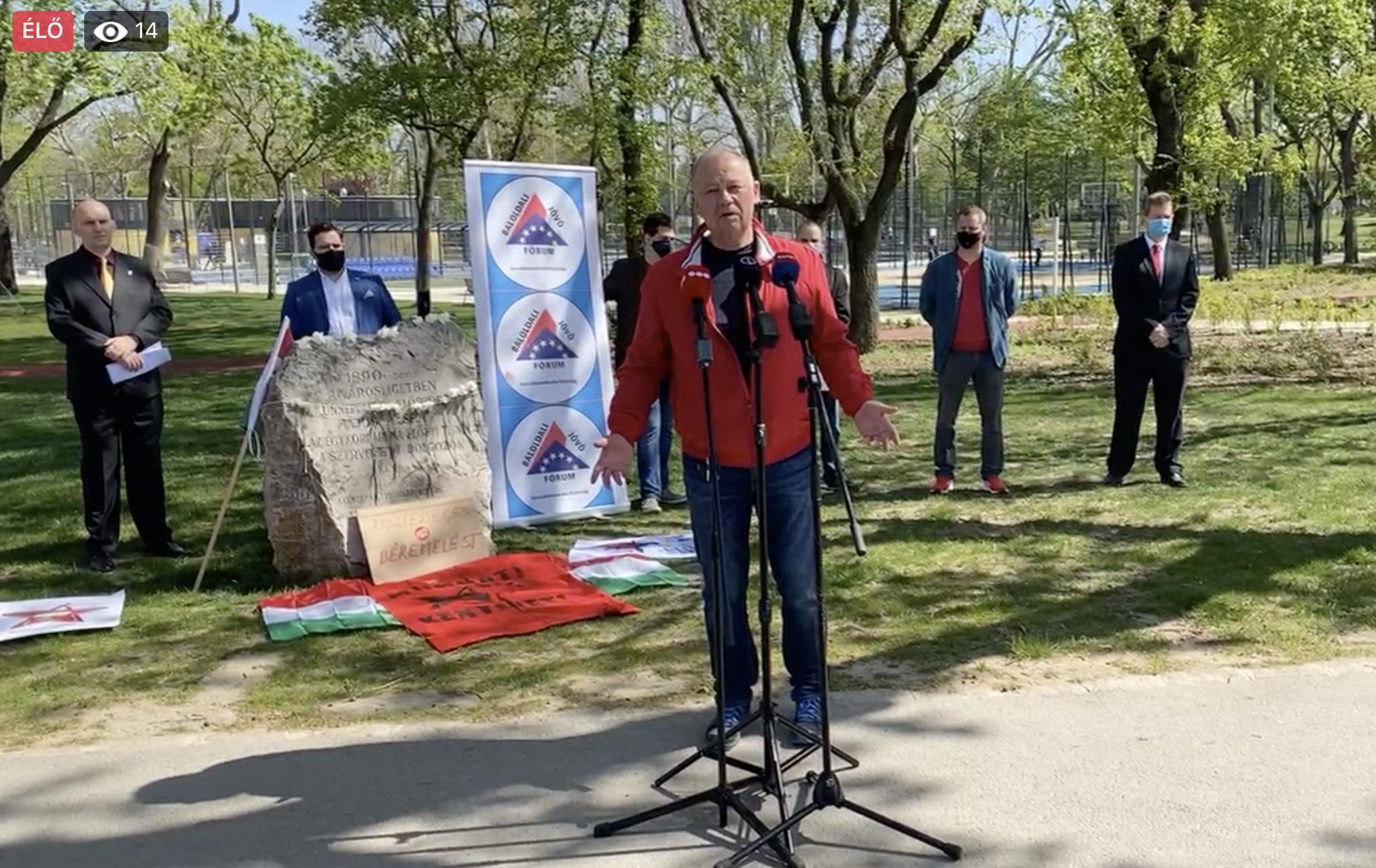 Szanyi Tibor beszéde 2021. május 1-jén